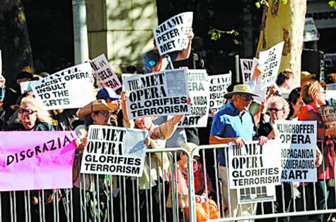 Rabbi protests 'terrorism at the Met Opera'