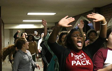 Students protest Ferguson decision