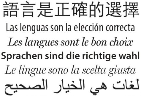 Editorial: Languages are the right choice