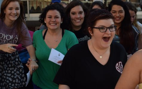 Campus sororities welcome over 100 women on 'bid day'