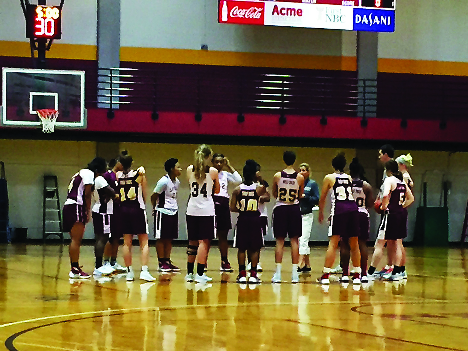 The women's basketball team practices Sept. 20. The team hopes to win a national championship this year. Photo credit: Ryan Micklin