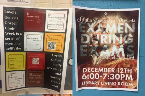 Faith-based events fill finals week