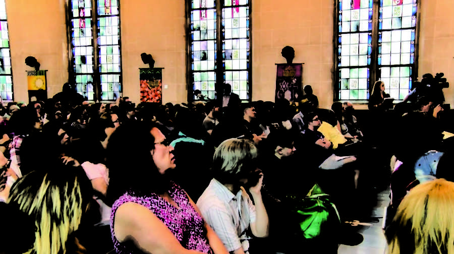 Jada+Cardona%2C+founder+and+executive+director+of+Transitions+Louisiana%2C+held+a+town+hall+meeting+against+transgender+violence+on+March+10+at+the+First+Unitarian+Universalist+Church+of+New+Orleans.+Photo+credit%3A+Haley+Pegg