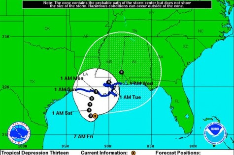 Loyola braces for rain from tropical depression