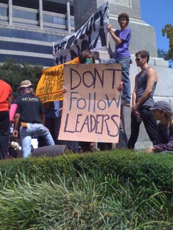 Students participate in Occupy New Orleans