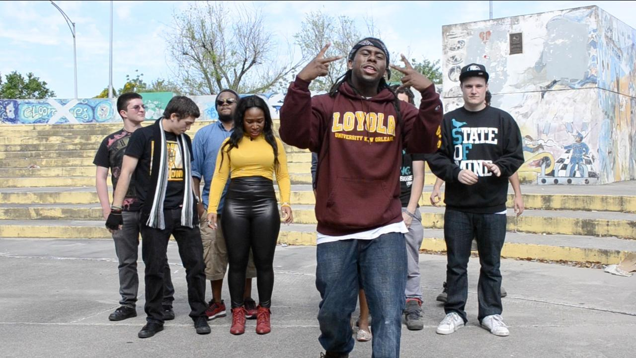 "Simon Hill, music industry junior, also known as ""Top Billion,"" raps in the third cypher video. Hill leads the cypher, a freestyle rap group."