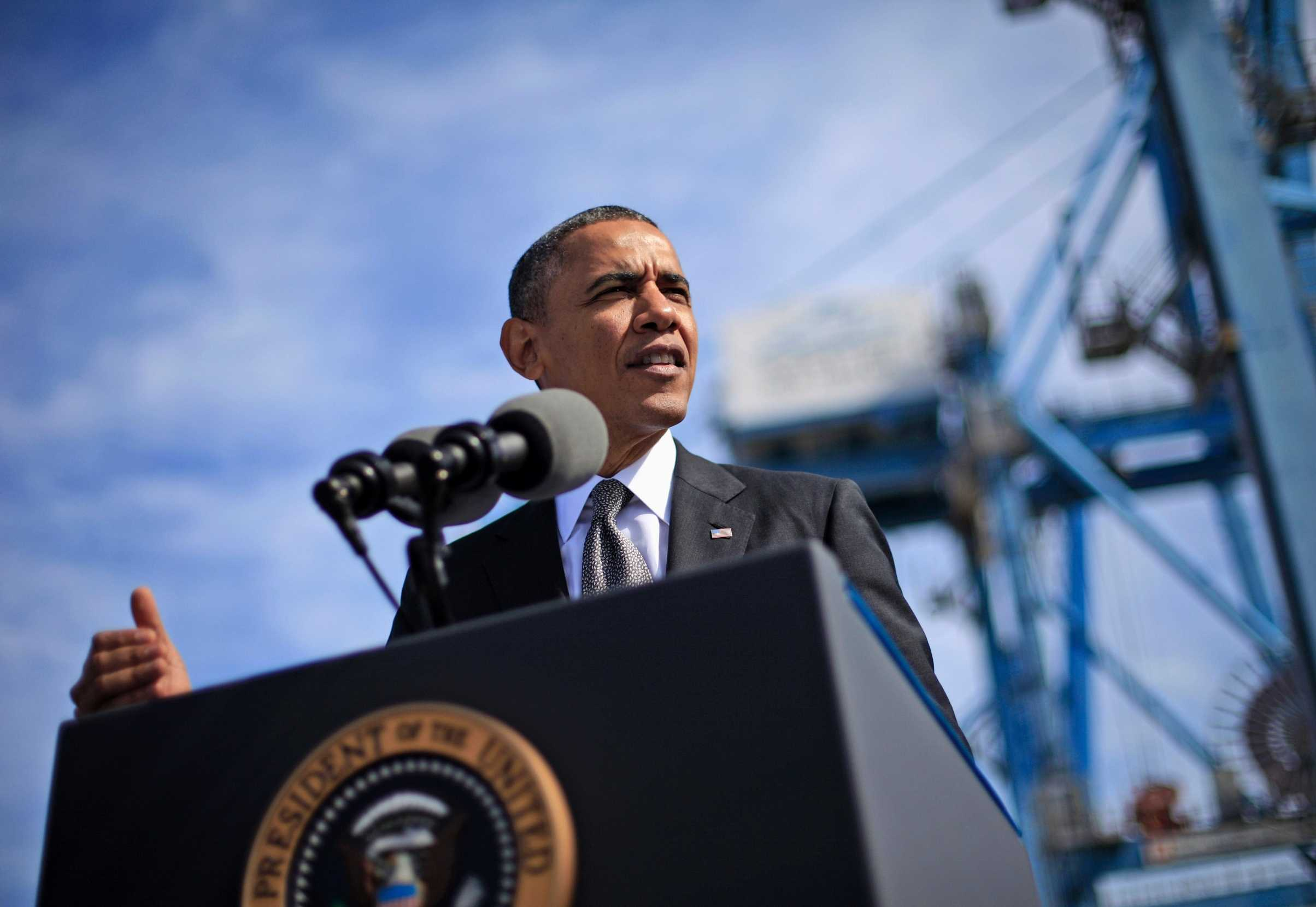 President Barack Obama spoke about the economy at the Port of New Orleans this past Friday. Obama traveled to the Gulf Coast region to make a case that more exports lead to more jobs.