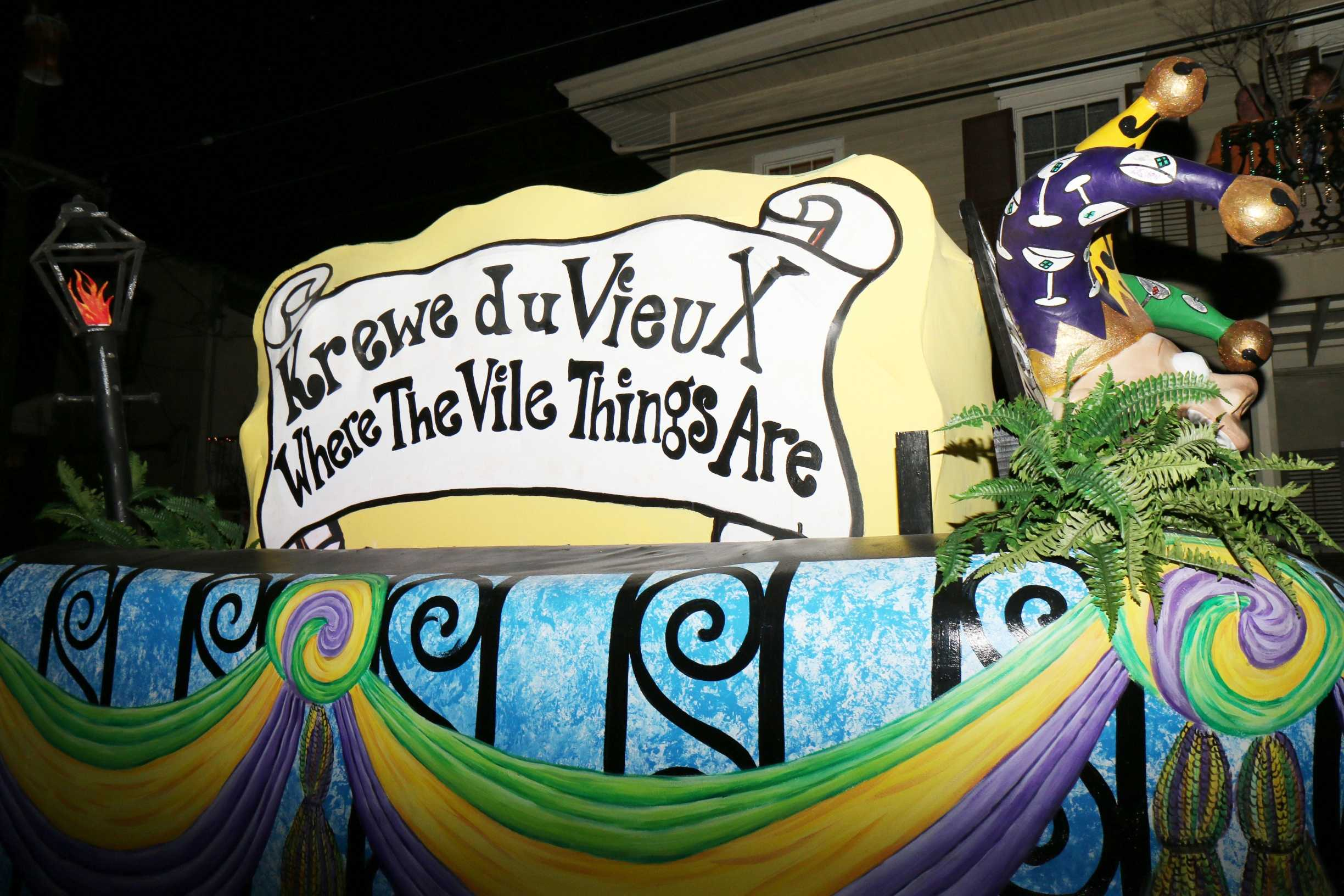 """Krewe du Vieux kicked off the start of parade season in New Orleans on Saturday, Feb. 15. Krewe du Vieux's 17 sub-krewes each presented their own interpretations of the theme """"Where The Vile Things Are."""" Historian and wetlands restoration advocate John Barry was honored as the krewe's king. Krewe Delusion followed Krewe du Vieux."""