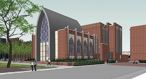 The blueprint for the the future Tom Benson Jesuit Center is constructed to serve the Loyola community for generations to come, according to Office of Institutional Advancement's Faith in the Future campaign. Tom Benson has already pledged a leadership gift of $8 million to establish the center.