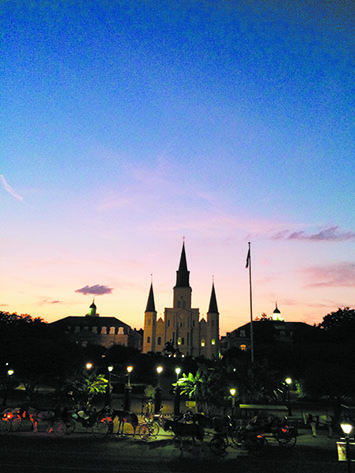 St. Louis Cathedral after dark