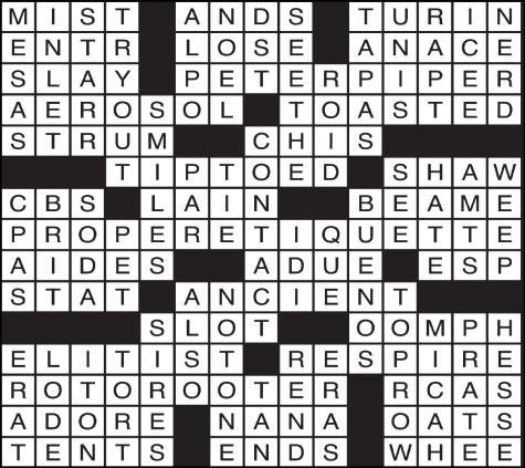 crosswordanswersweb