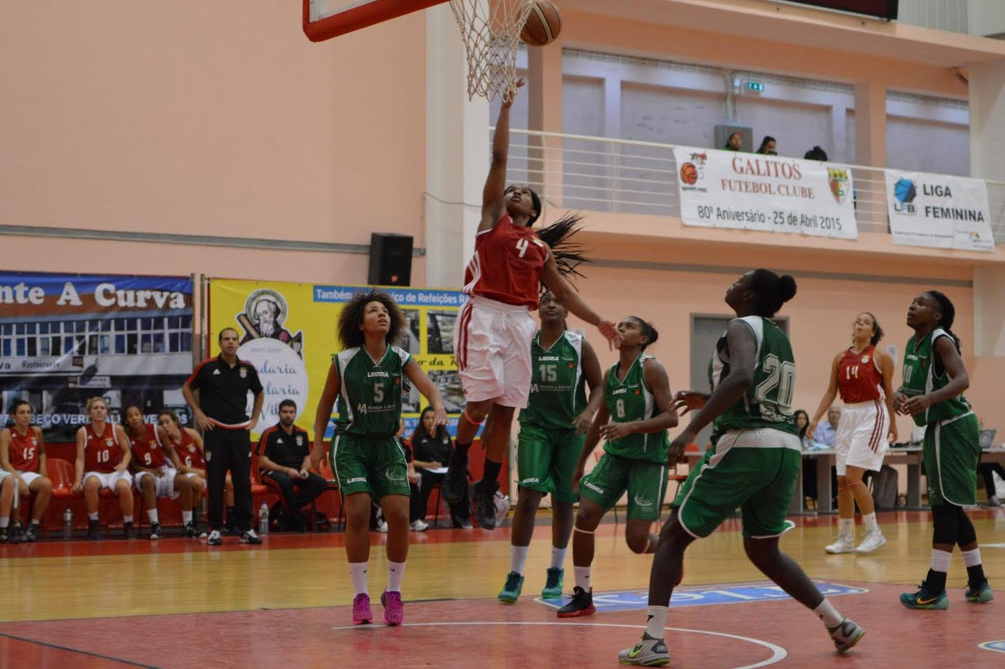 Former Wolfpack point guard Janecia Neely (above) drives to the basket for a lay in and attacks the defense during a game against Ad Vagos and Ovarense on Oct. 10 and 11. Neely is off a solid start to her career oversees, averaging 14 points and 5.2 assists per game through the first two games of the season.