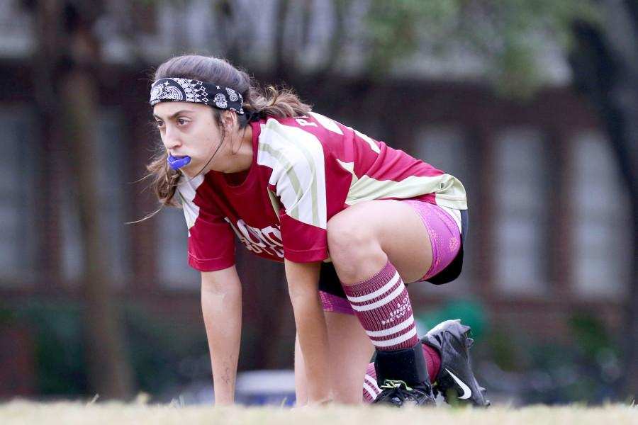 Alex+Pucciarelli%2C+musical+theatre+sophomore%2C+prepares+for+%22brooms+up%22+in+a+quidditch+match+against+the+University+of+Southern+Mississippi+on+Tulane%27s+campus.+Loyola%27s+team+has+had+some+setbacks+this+season+due+to+injuries.+Photo+credit%3A+Zach+Brien