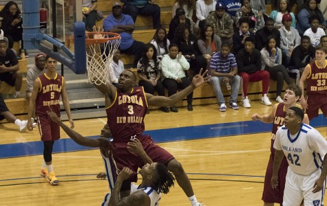 Men's team has win streak snapped in physical contest against Dillard University