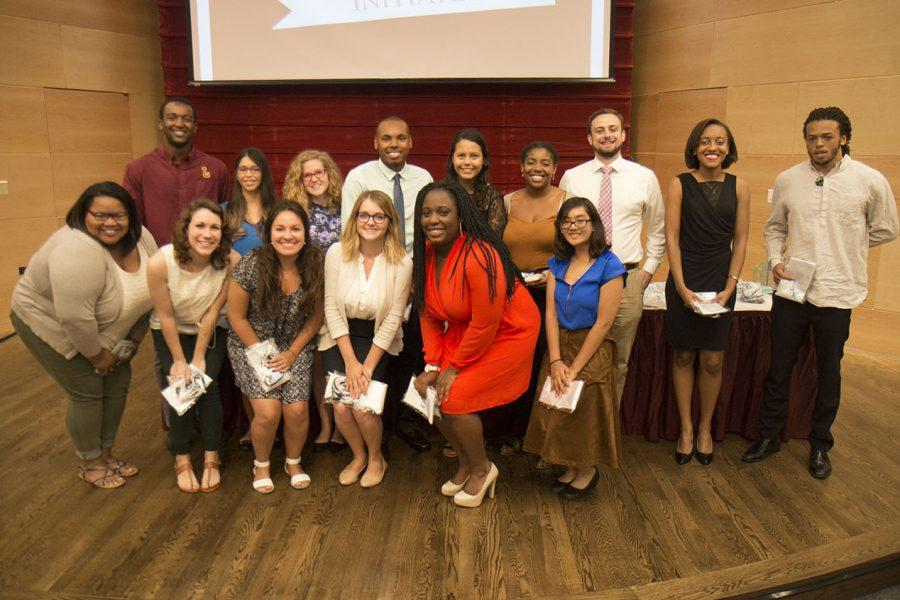 The+spring+2016+Omicron+Delta+Kappa+Initiates+were+presented+at+the+ceremony.+Other+awards+and+scholarships+were+presented+to+students+at+the+Magis+awards+ceremony.