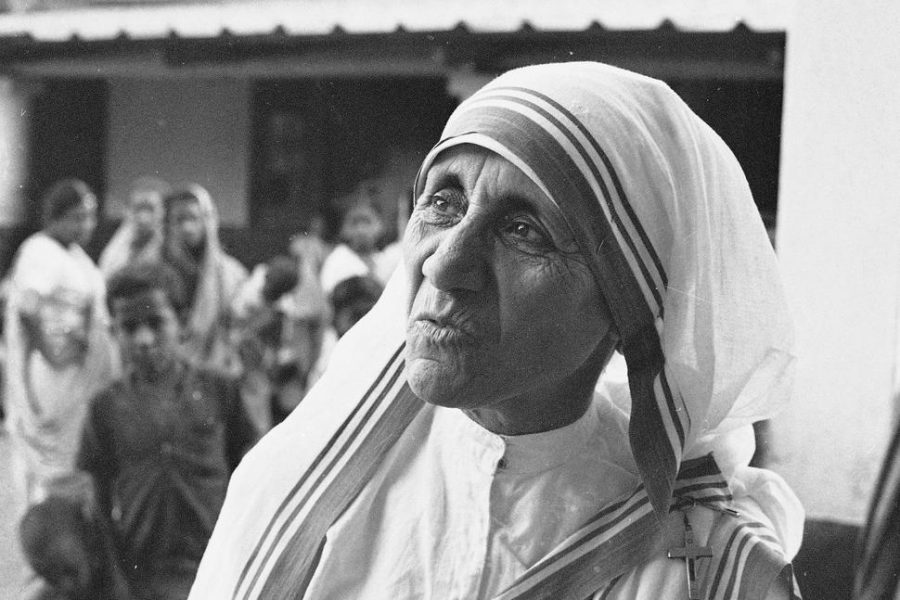 Mother+Teresa+stands+outside+her+Home+for+the+Dying+Destitutes+in+Kolkata%2C+India%2C+on+March+30%2C+1966.+She+will+be+made+a+saint+on+Sept.+4.+Photo+credit%3A+Associated+Press