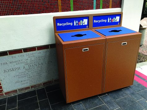Sustainability committee installs new recycling bins on campus