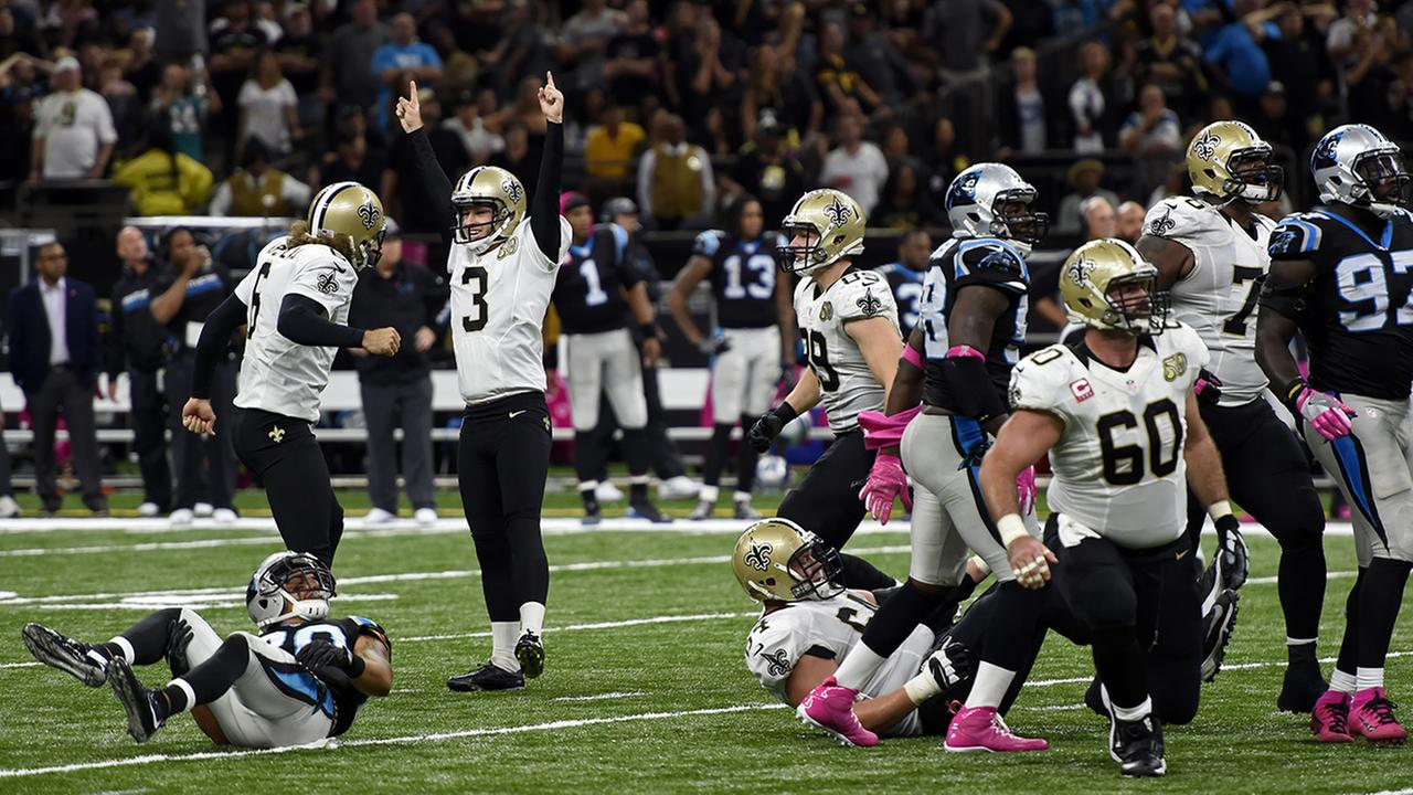 Saints use game winning field goal to snag first divisional win