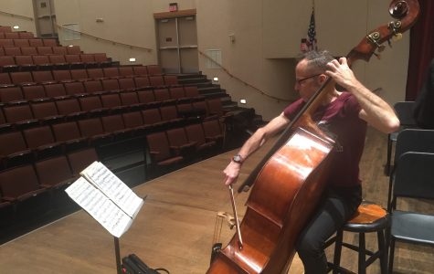 James VanDenmark, double bassist, performs at Loyola