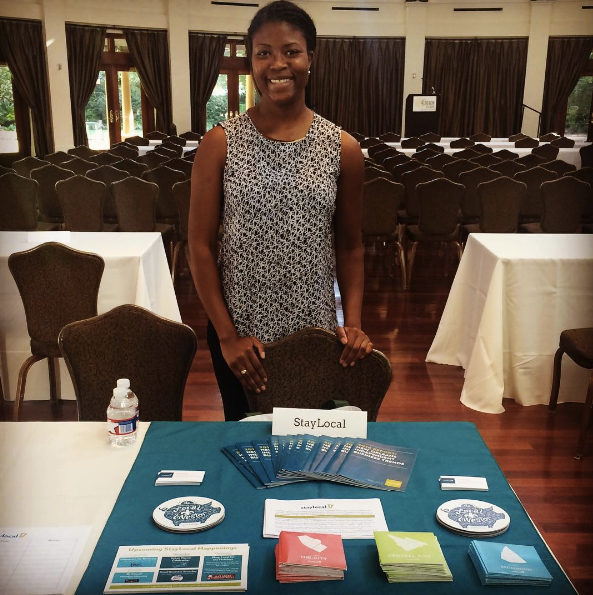 Cunningham is the AmeriCorp VISTA/Program Assistant at StayLocal. In this picture, she is at a small business expo hosted by the City of New Orleans, where business owners had the opportunity to learn about the numerous amount of resources available to them throughout the city. StayLocal is the Greater New Orleans' Independent Business Alliance. They help New Orleans thrive by connecting local businesses to customers, resources, and each other.