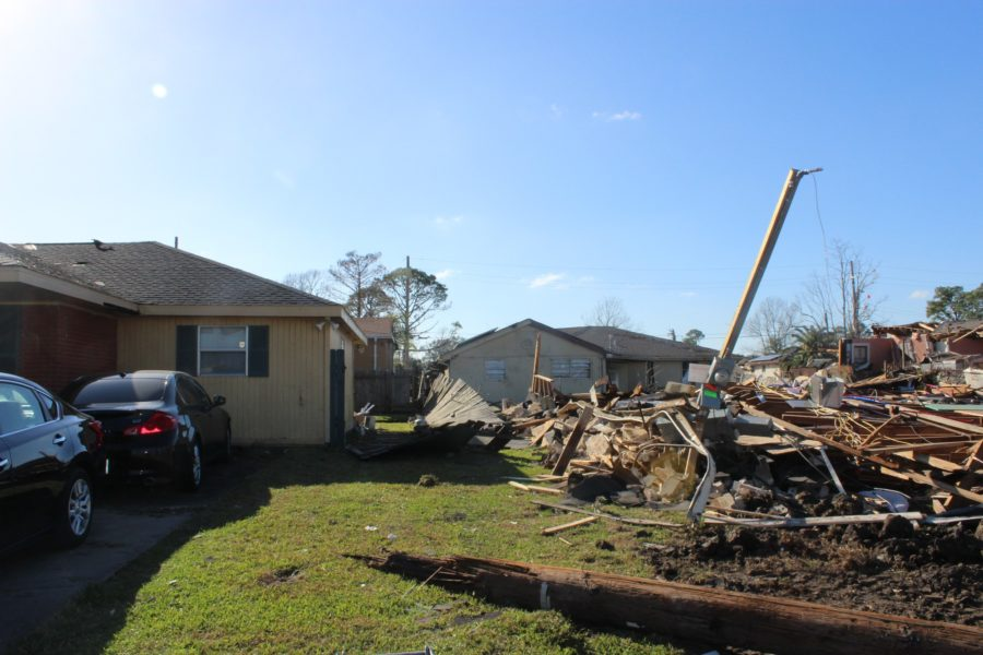 Pictured+left+is+the+home+of+Gason+Nelson%2C+who+was+inside+of+it+as+the+tornado+destroyed+his+neighbor%27s+home.+Gason+was+under+his+bed+as+debris+came+flying+in+through+his+bedroom.+Photo+by+Anthony+Alongi+Feb.+9%2C+2017+Photo+credit%3A+Anthony+Alongi