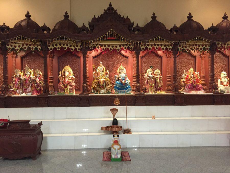 The+Hindu+Temple+was+decorated+for+its+second+Maha+Shivaratri+celebration+March+3.+Maha+Shivaratri+is+a+holiday+honoring+the+Hindu+deity+Shiva.+Photo+credit%3A+Erin+Snodgrass