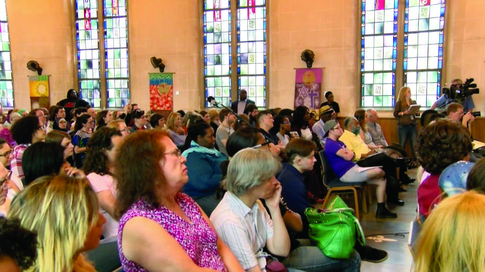 Jada Cardona, founder and executive director of Transitions Louisiana, held a town hall meeting against transgender violence on March 10 at the First Unitarian Universalist Church of New Orleans. Photo credit: Haley Pegg