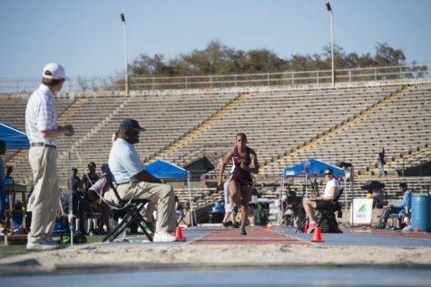 Track star Leah Banks finishes seventh in South Alabama Invitational