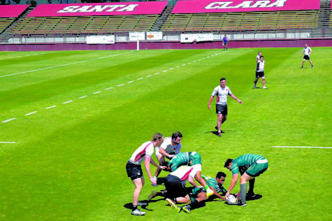 Rugby set to play British Navy team