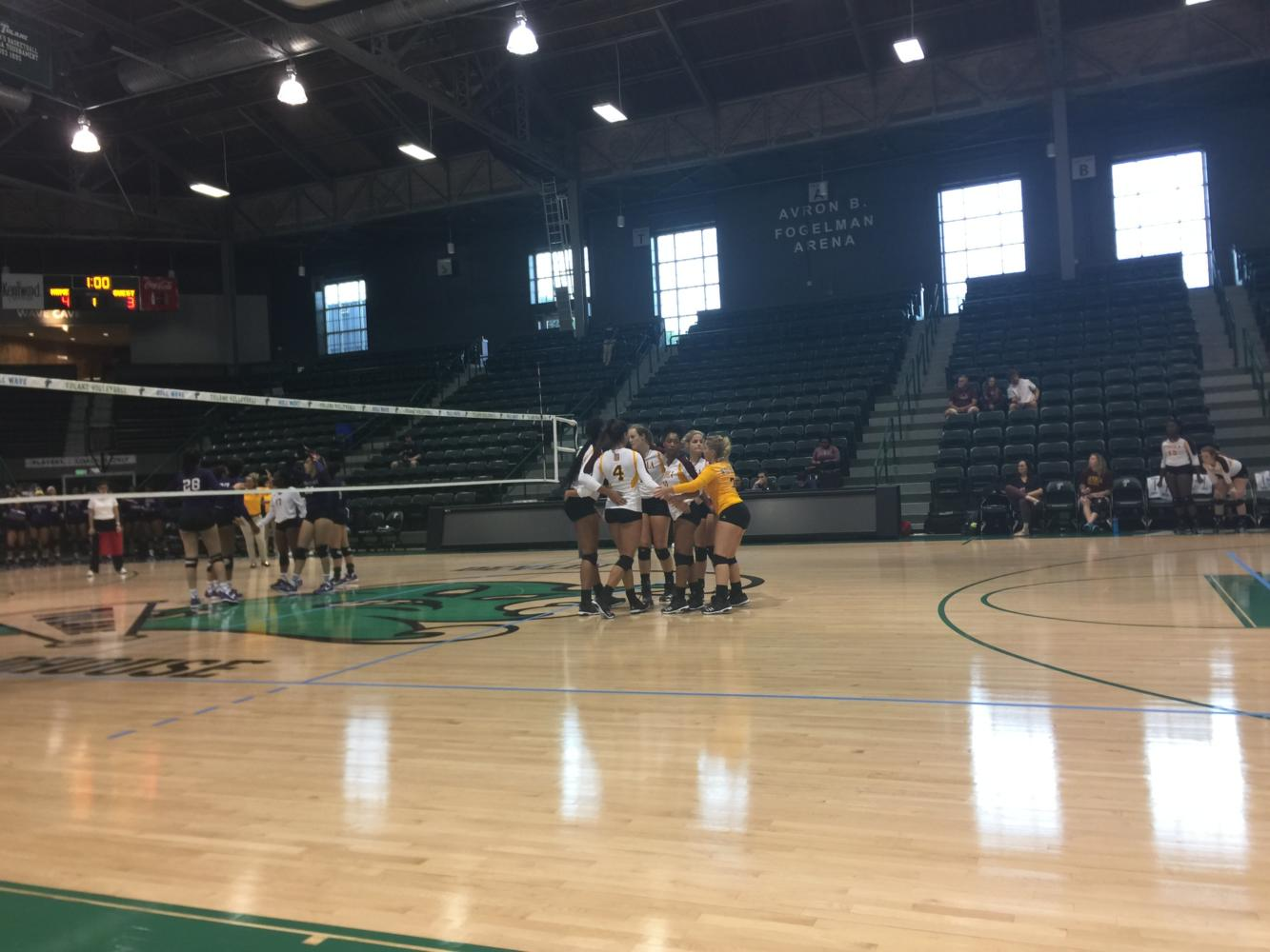 Volleyball team defeats Alcorn State in first home game of the season