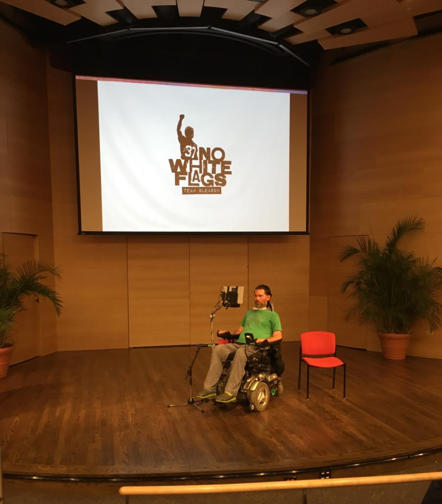 Former New Orleans Saints Player Steve Gleason delivers