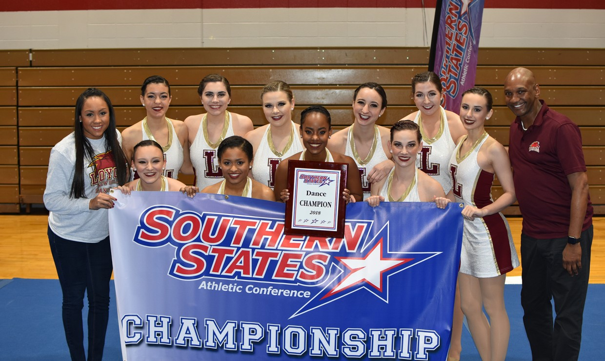 Loyola dance team wins the Southern States Athletic Conference title for the second year in a row on Feb. 3 2018. Loyola is the only school with the conference championship. LOYOLA NEW ORLEANS ATHLETICS/Courtesy.