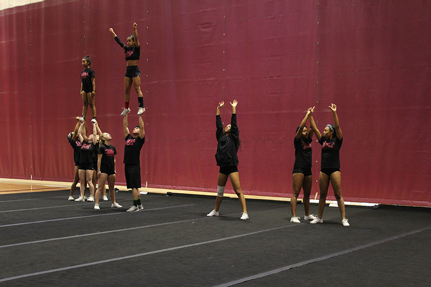 Cheer team prepares for championship