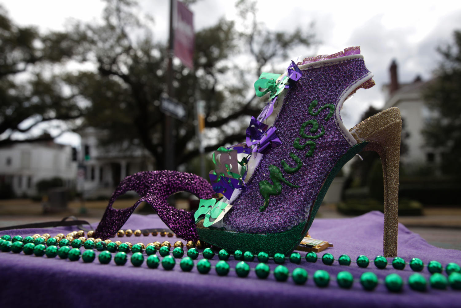 The Krewe of Muses is an all-female krewe well known for their high heel throws. The Krewe of Muses was established in 2001 and rolled on Feb. 8 at 6:30 p.m. Photo credit: Angelo Imbraguglio