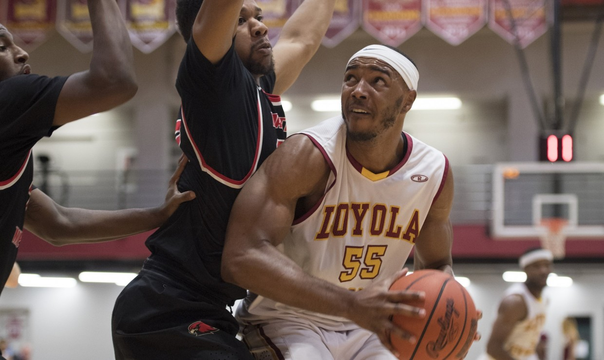 Accounting senior Benjamin Fields scoring against Martin Methodist University Feb. 8 2018. Fields led the way in scoring for Loyola with 17 points versus Bethel University on Feb. 10 2018. LOYOLA NEW ORLEANS ATHLETICS/Courtesy