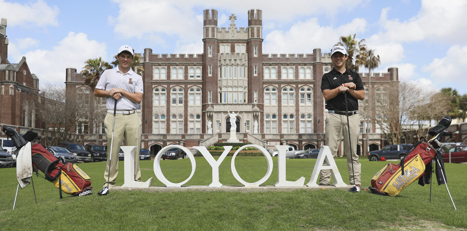 Business+junior+Philip+Nijoka+and+finance+junior+Mark+Nijoka+are+leaders+on+the+Loyola+golf+team.+The+twin+duo+look+to+build+off+of+their+historic+success+and+pave+the+way+for+future+Loyola+golfers.+Photo+credit%3A+Cristian+Orellana