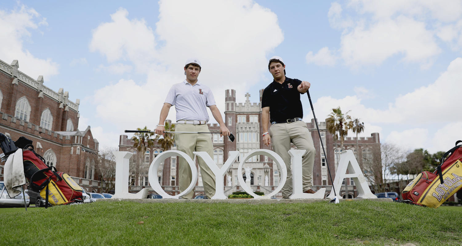 Business junior Philip Nijoka and finance junior Mark Nijoka are leaders on the Loyola golf team. The twin duo look to build off of their historic success and pave the way for future Loyola golfers. Photo credit: Cristian Orellana