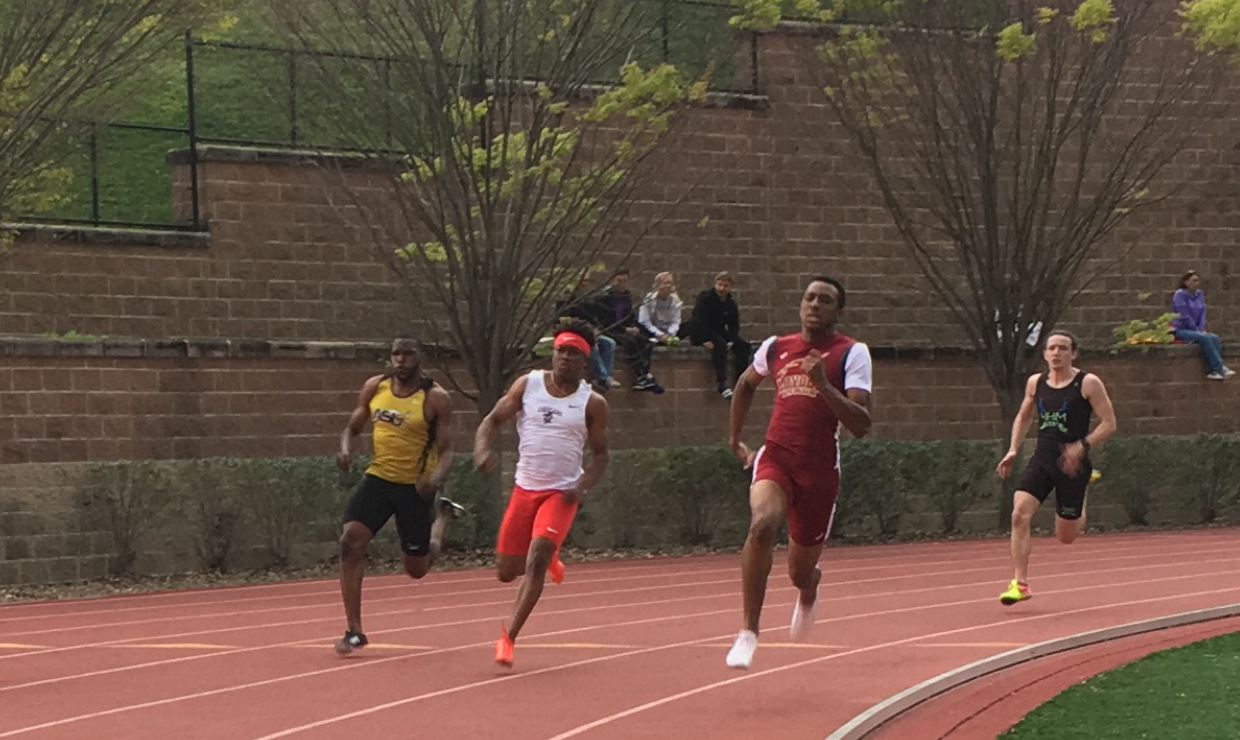 Jarrett Richard, computer information systems sophomore, competes in the  Louisiana Classics on March 16, 2018. The Loyola track team earned five top finishes at the  University of Mobile Invitational on March 30, 2018. Photo credit: Loyola University Athletics
