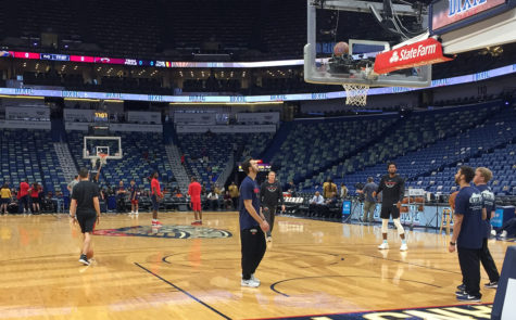 Pelicans preparing to take on Trailblazers