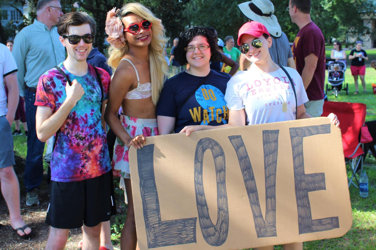 A+group+of+counter+protests+with+signs+against+the+Westboro+Baptist+Church.+Photo+credit%3A+Alexandria+Whitten