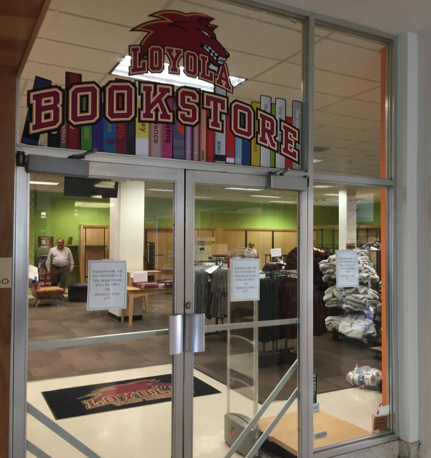 The Loyola bookstore is under renovation before they welcome Barns and Noble College. The new vendors will be occupying the space starting on June 18. Photo credit: Andres Fuentes