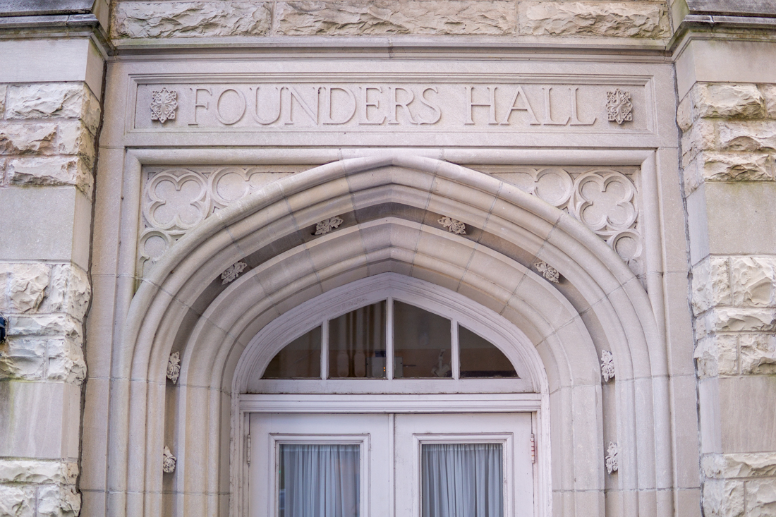 Founders+Hall+sits+awaiting+students+on+Loyola%27s+Broadway+campus.+The+building+was+acquired+by+Loyola+from+the+Dominican+Sisters+of+Peace+in+2017+and+has+been+undergoing+renovations+since.+Photo+credit%3A+Jacob+Meyer