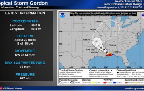 Update: Gordon swerves NOLA