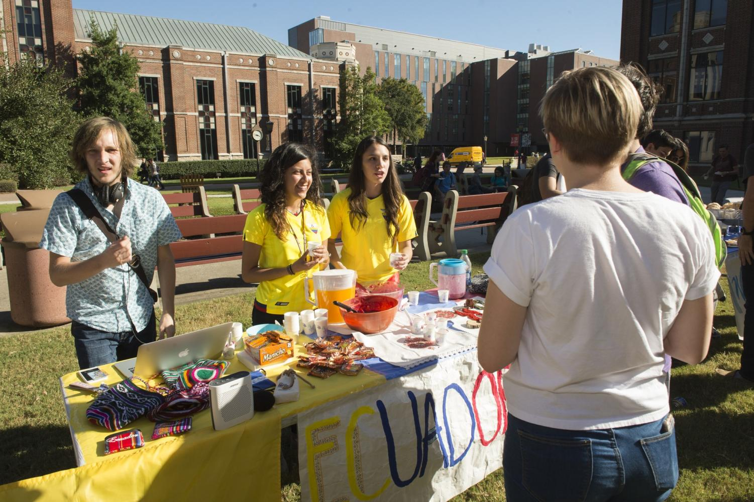 Students visit Loyola's 2016 country fair which was one of the first recipients of the university's diversity grants. The $500 grants are given out to students and organizations that propose events dedicated to promoting diversity and inclusion.
