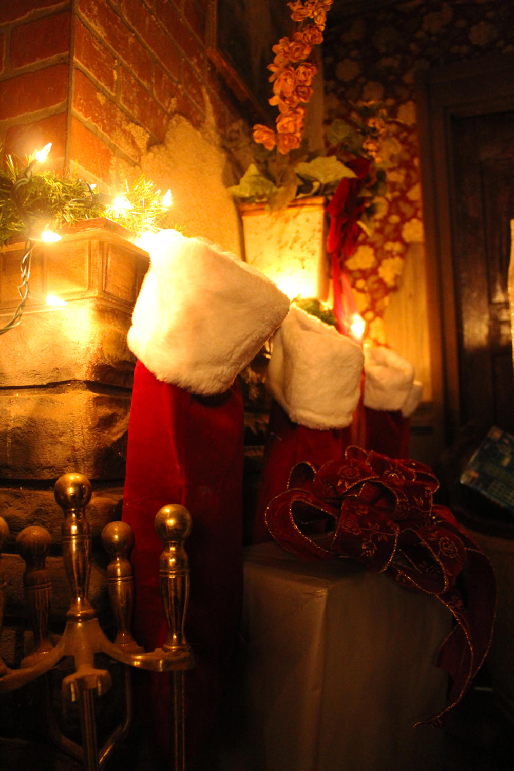 Stockings+hang+by+the+chimney%2C+but+not+with+care%2C+in+the+Krampus+inspired+NOLA+Nightmare.+The+haunted+house+is+decorated+entirely+with+Christmas+lights+and+other+traditional+holiday+decorations.+Photo+credit%3A+Caitlyn+Reisgen