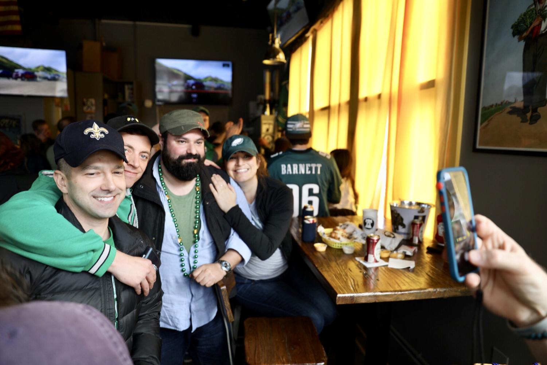 Philadelphia+natives+enjoy+the+pre-game+festivities+before+kickoff.