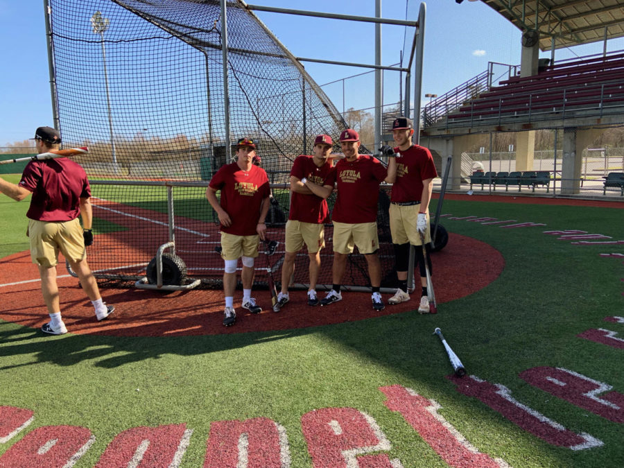 The+2019+baseball+team+practices+at+Segnette+Field+at+the+Alario+Center.+Photo+credit%3A+Andrew+Wellmann