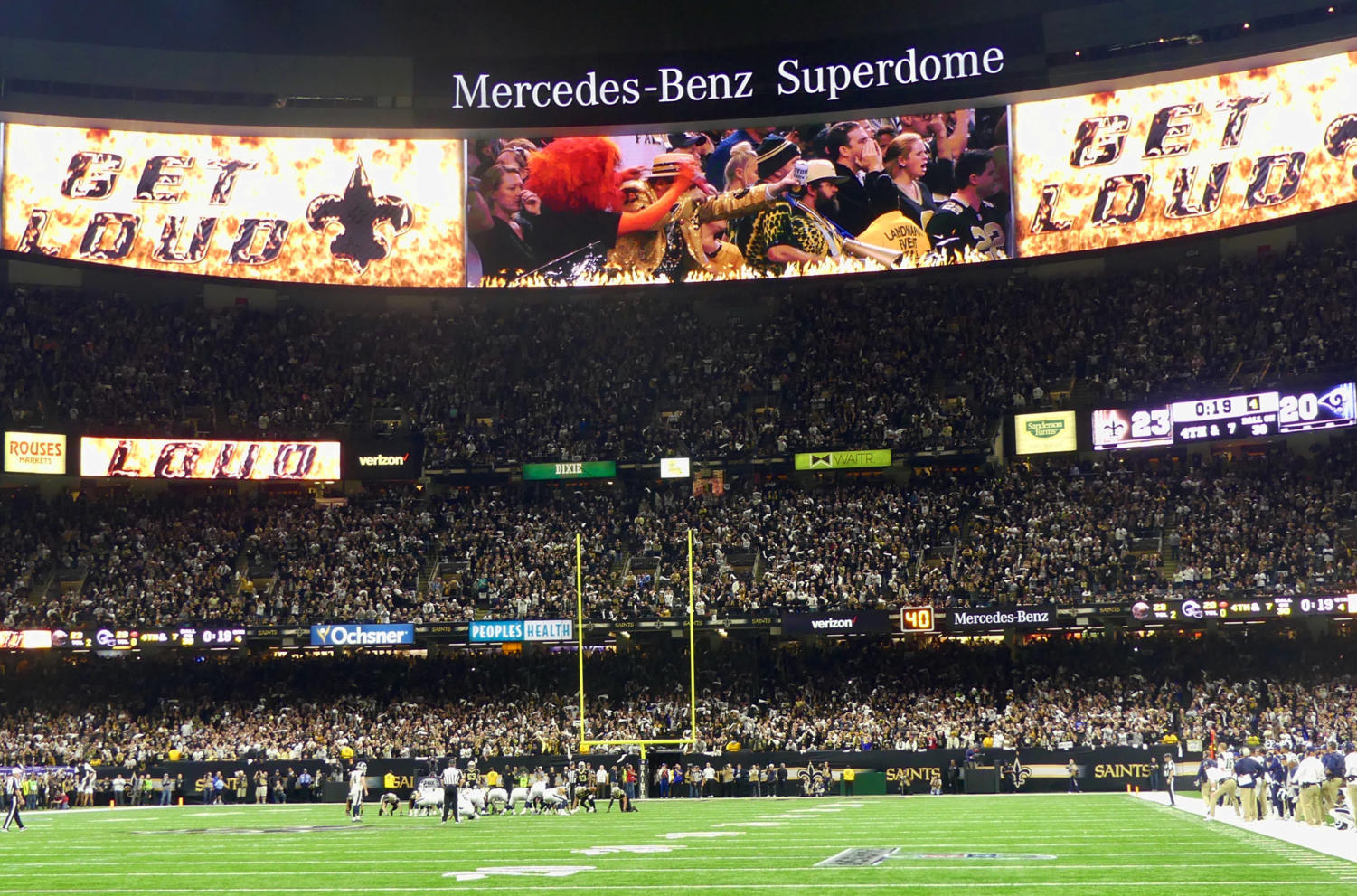 New+Orleans+Saints+fans+filled+the+Superdome+for+the+NFC+Championship.+Photo+credit%3A+Olivia+Ledet