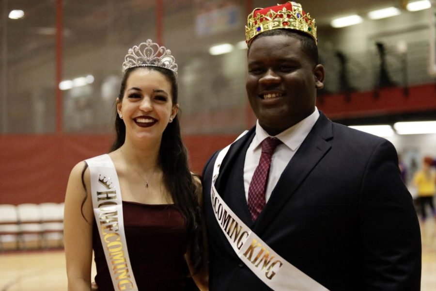 Psychology+sophomore+Sofia+Rabassa+and+sociology+freshman+Darell+Honora+Jr.+were+named+the+2019+Homecoming+king+and+queen.+Rabassa+is+a+captain+of+the+dance+team+and+Honor+is+a+member+of+the+cheer+team.+Photo+credit%3A+Michael+Bauer