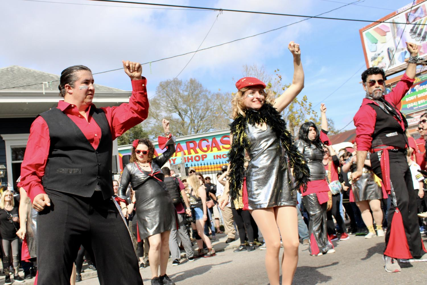Dance+krewes+battled+each+other+in+a+dance-off+at+the+Magazine+Street+block+party.+Photo+credit%3A+Madison+Mcloughlin